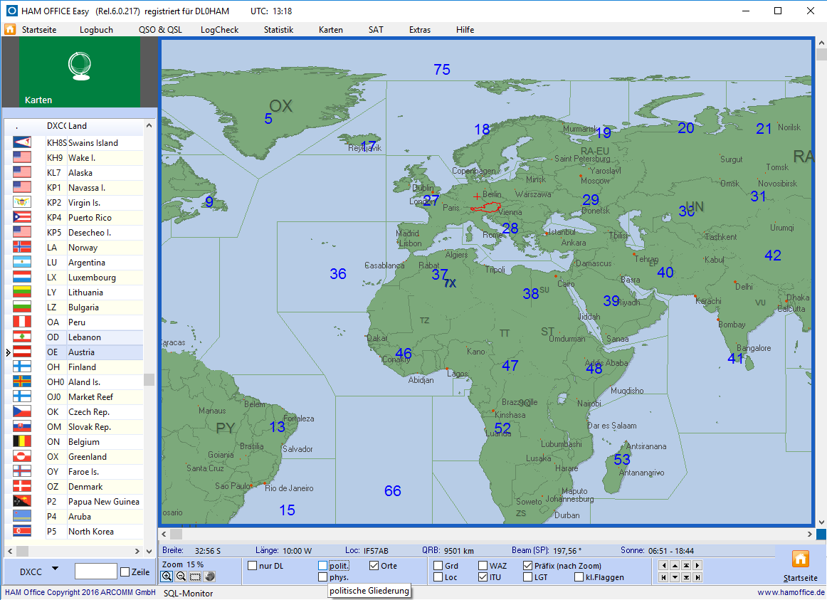 ITU-Karte