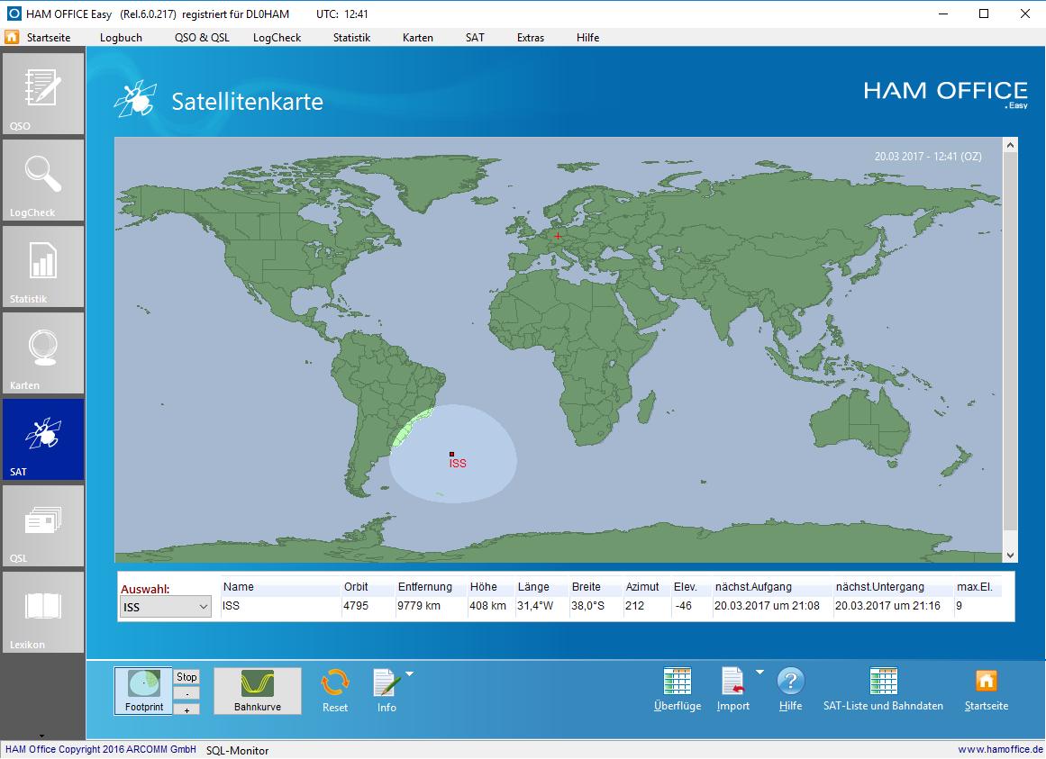 Satelliten-Karte